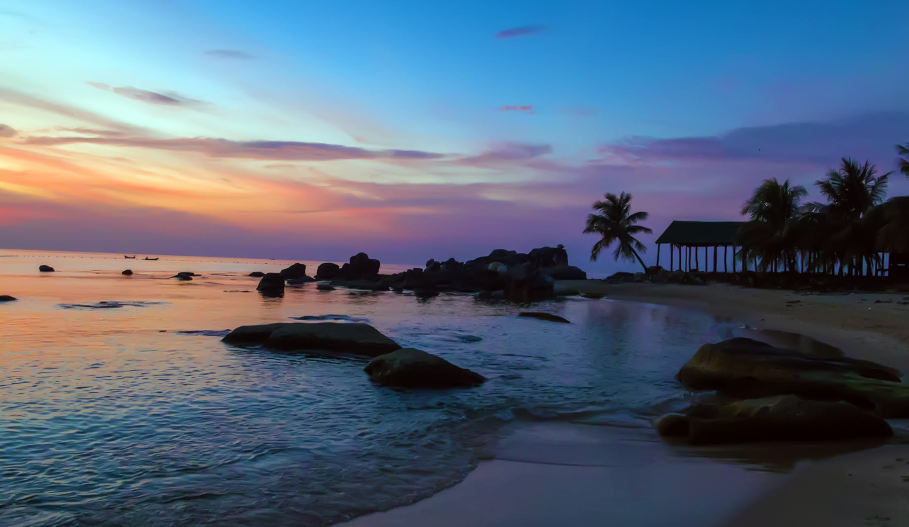 Rocky Beach At Sunset In The Barbados