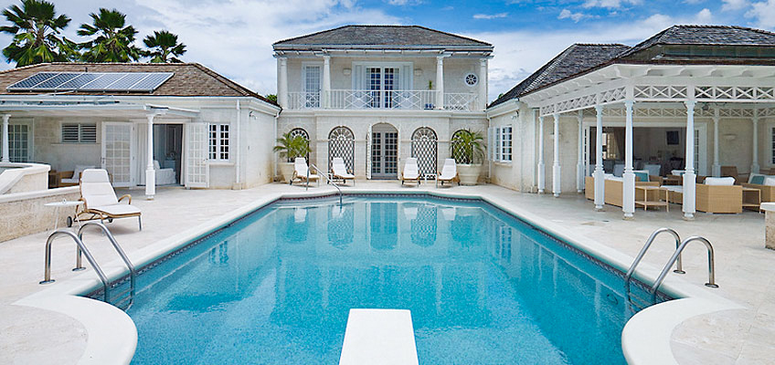 Barbados Villa From Pool Diving Board